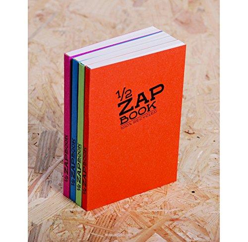 CLAIREFONTAINE Lot de 10 Blocs 1//2 ZAP BOOK Encoll/é grand c/ôt/é A6 105x148 mm 160 p unies Couv Al/éatoire