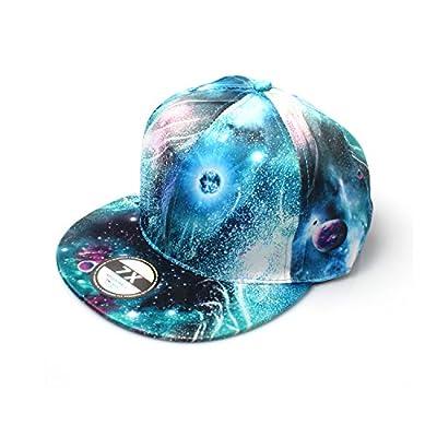 Accessoryo Aqua Galaxy Print Snapback Cap