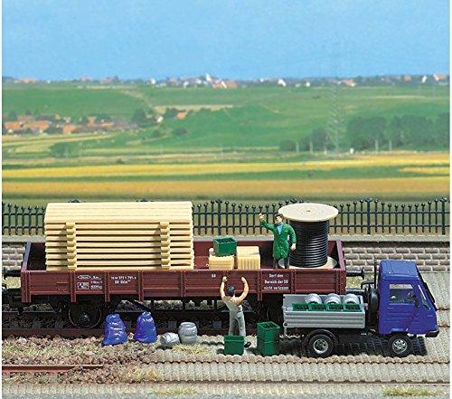 - Busch HO Scale Freight Loads Pallets Crates Barrels Model Train Scenery 1132