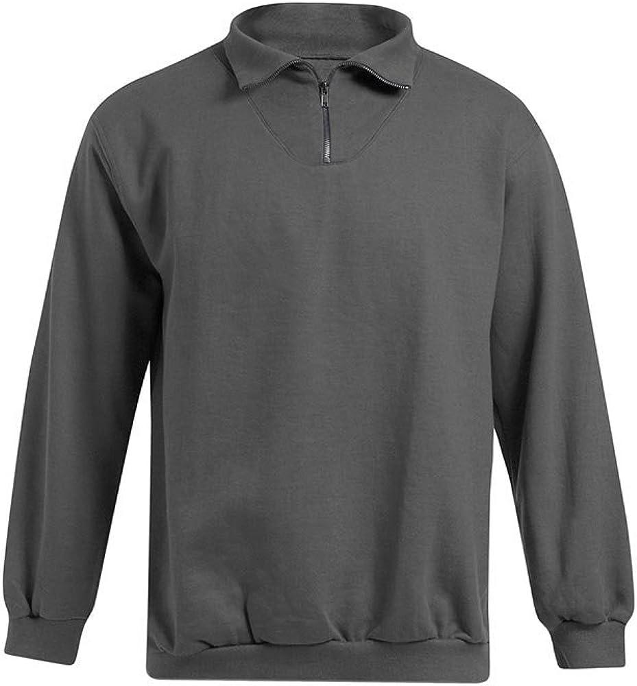 Promodoro Troyer Sweatshirt Plus Size Herren Graphit