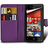 For Sony Xperia L1 (2017) G3311 - MobiBax Prime PU Leather Wallet Flip Skin Case Cover in DARK PURPLE
