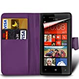 xiaomi red rice note - MobiBax Xiaomi Red Rice Note 4X - Protective Magnetic Pu Leather Wallet Flip Skin Case Book Cover In Dark Purple