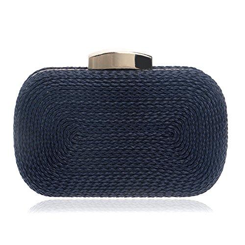 Women Ladies Evening Handbag For Clutch Clubs Blue Shoulder Bag Bridal Prom Wedding Gift Purse Woven Bag Party rg6rwx