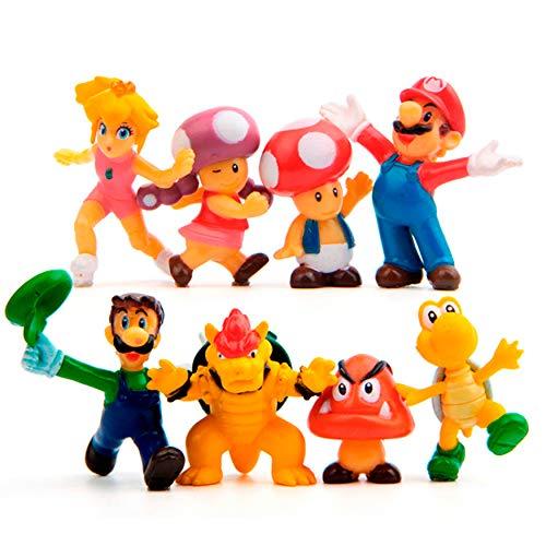 OliaDesign Super Mario Brothers Figures Set (8 Piece), 1.5