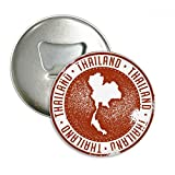 Thai Culture I Love Thailand Map Round Bottle Opener Refrigerator Magnet Pins Badge Button Gift 3pcs