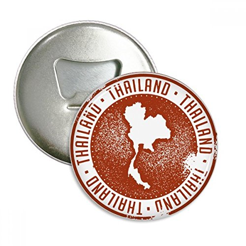 Thai Culture I Love Thailand Map Round Bottle Opener Refrigerator Magnet Pins Badge Button Gift 3pcs by DIYthinker