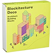 Areaware JPBL2 Blockitecture Deco Blocks, Purple/Red/Green/Yellow