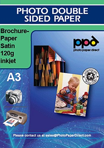 PPD A3 A getto d'inchiostro Carta opaca satinata bifacciale 120G - 20 fogli Photo Paper Direct