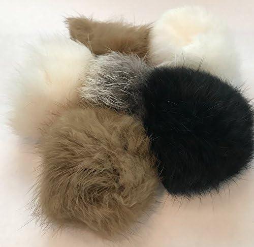 Barker Brands Inc. Real Fur Balls Natural Cat Toy 6 Pack 4
