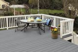 KILZ Interior/Exterior Enamel Porch/Patio Floor Paint, Low-Lustre, Slate Gray, 1 gallon