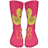 JINYOUR Ducks Love Women's Casual Athletic Stockings 30CM Long Socks