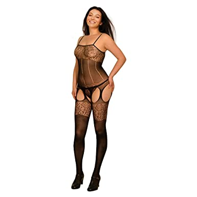 c24a0c1fa2 Fishnet Naughty Open Crotch Corset All in One Bodysuit  Amazon.co.uk   Clothing