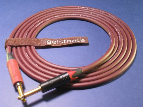 Geistnote's Evidence Audio Forte Instrument Cable with Neutrik Silent Plug and Gold Connectors 17 Ft (5 M) ~ Straight to Straight by Evidence Audio