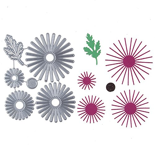(Bluelans Cutting Dies Stencil Metal Mould Template for DIY Scrapbook Album Paper Card Making (Daisy Leaf Flower Cutting Dies))