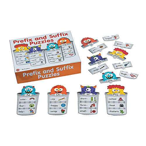 Fun Express - Prefix and Suffix Puzzles - Educational - Teaching Aids - Language Arts - 30 -