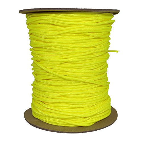 SGT KNOTS Spectra Cord (2.2mm) Speargun Line - Fishing Line - All-Purpose Utility Cord - for Tie-Downs, Gear Bundles, Boot Laces, Camping, Survival, Marine, More (300 Feet Spool - Neon Yellow) by SGT KNOTS (Image #1)