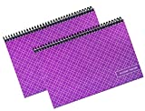 The Superior Check and Debit Card Register - Simple Account Tracker - W I D E Edition - Purple - 2-Pack