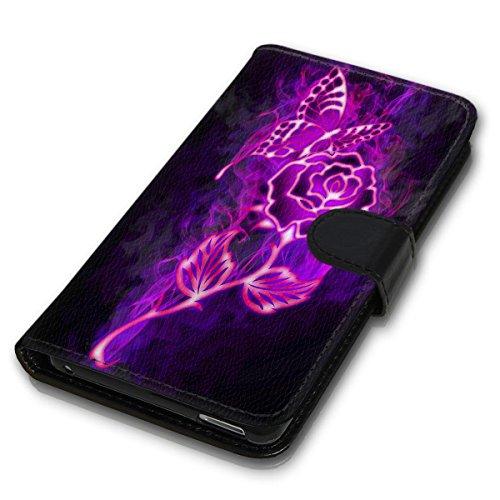 Wallet Book Style Flip Handy Tasche Case Schutz Hülle Schale Motiv Etui für Apple iPhone 4 / 4S - Design Flip MVD298