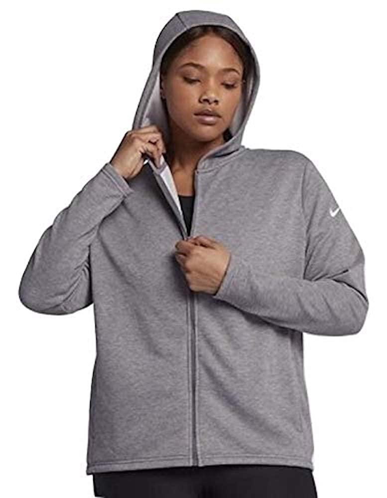 cb877fc2d25 NIKE Plus Size Full Zip French Terry Jacket Gray (2X) at Amazon Women s  Clothing store