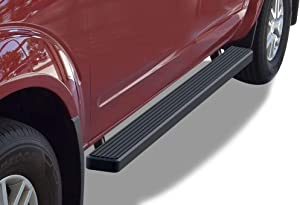 APS iBoard Running Boards (Nerf Bars Side Steps Step Bars) Compatible with 2005-2020 Frontier Crew Cab Pickup 4-Door (Black Powder Coated 4 inches)