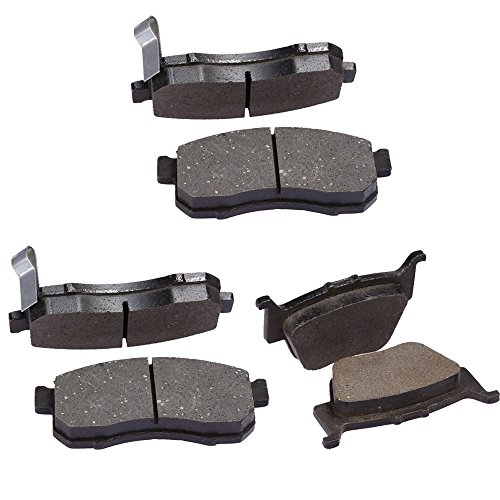 QKPARTS Semi-Metallic Front Rear Brake Pads For 2014-2017 Honda Pioneer 700 New (Best Semi Metallic Brake Pads)