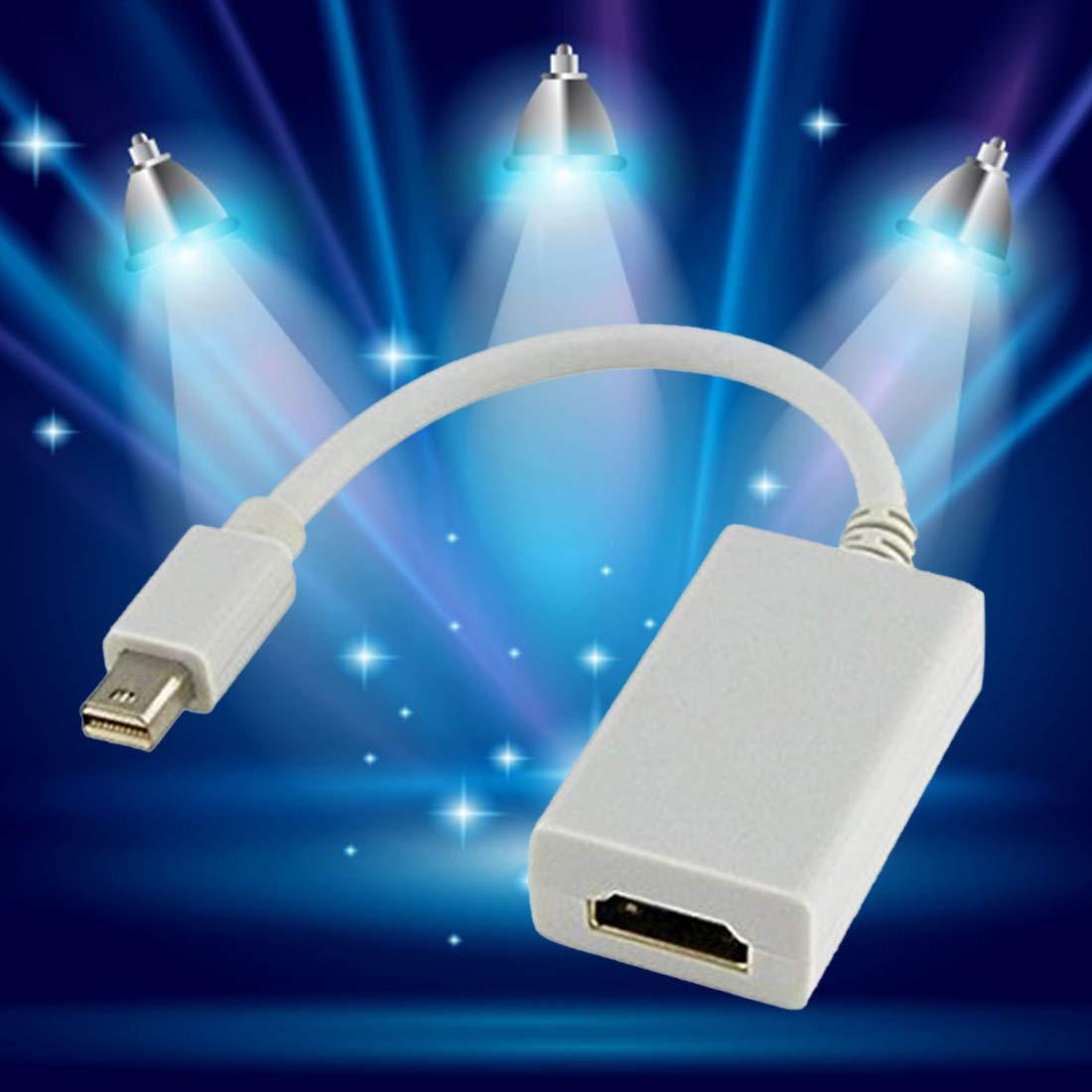Mini Display Port Display Port DP M/âle vers HDMI Femelle Adaptateur Convertisseur C/âble pour Apple Mac Macbook Pro Air