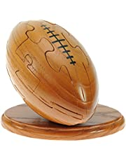 Namesakes Rugby Ball 3D Jigsaw Puzzle for Grown Ups and Children + Free Keyring. Novelty Wooden Gifts Ideas for Men, Women & Sports Fans! Unusual Christmas Stocking Fillers for Boys & Girls!