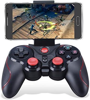 Mando Inalámbrico para Juegos, Maegoo 2.4GHz Bluetooth Game Controller Gamepad Joystick Inalámbrico con Soporte de Teléfono para Android Smartphone Xiaomi Huawei Samsung PC Windows PS3 Smart TV etc.: Amazon.es: Videojuegos