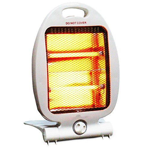 800W PORTABLE ELECTRIC HALOGEN HEATER QUARTZ ELECTRICAL FOR HOME OR OFFICE