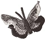 Vintage Crochet PATTERN to make - Butterfly Hair Hat Decor Motif Decoration. NOT a finished item. This is a pattern and/or instructions to make the item only.