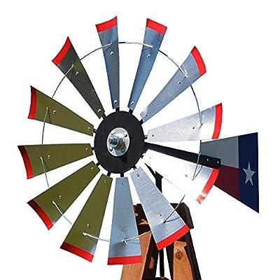 38-inch Windmill Head w/Texas Flag Rudder, Build an 11-Foot Tall Windmill : Garden & Outdoor