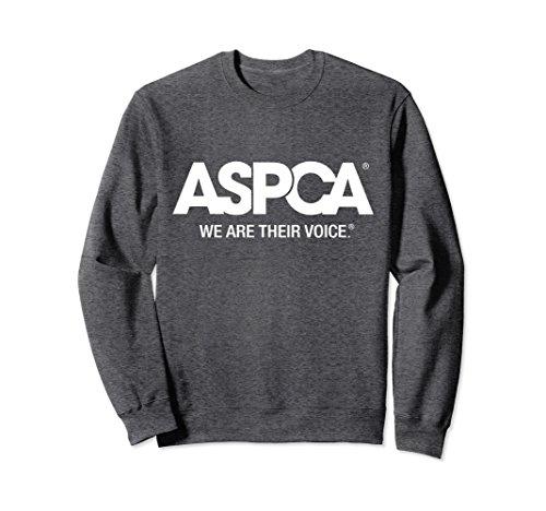 (Unisex ASPCA We Are Their Voice Logo Sweatshirt Large Dark)