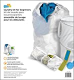 Honey-Can-Do LDY-01890 Laundry for Dummies Kit with Hamper, Wash Bag, Laundry Bag, Lint Brush, and Laundry Poster/Guide