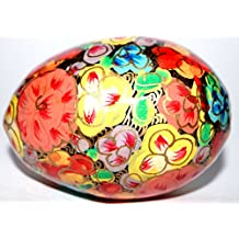 Egg for Decoration. 100% Handmade and Hand Painted Paper Mache Product from the Artisans of Kashmir-India.