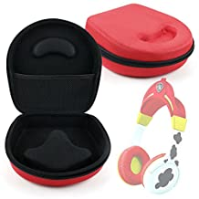 Hard 'Shell' EVA Pouch Case (Red) - Compatible with Paw Patrol Marshall Kid-Friendly Headphones - by DURAGADGET