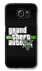 S6 Case, Grand Theft Auto 5 Logo Creativity Ultra Fit Black Bumper Shockproof Case For Galaxy S6 Customizable Hard PC Samsung Galaxy S6