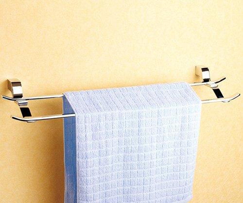 Cloud Power Wall-mounted Brass Double Towel Bar Double Towel Bar For Bathroom Chrome