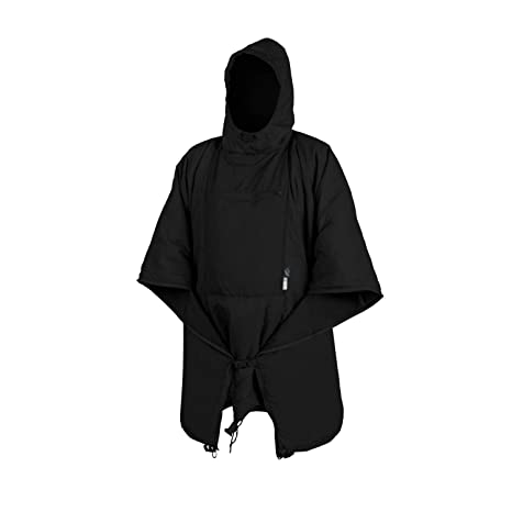 Color Negro Helikon-Tex Swagman Poncho Enrollable