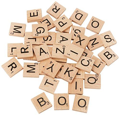 E-FASTÂ Wooden Scrabble Tiles Full Set Of 100, Craft, Board Games, Jewellery Making Kit by E-FASTÂ