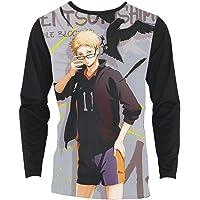 Inawayls Herren Sommer T-Shirt V-Ausschnitt Slim Fit Baumwolle M/änner T-Shirt Kurzarm Top mit Taschen