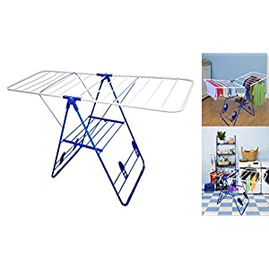 Decor Hut Clothes Drying Rack, Foldable with Shoes Flaps for Drying Sneakers or Airing Out Shoes, Heavy Duty, Indoor & Outdoor Use,