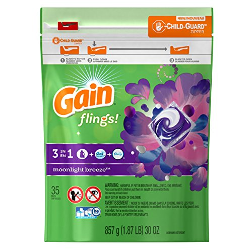 Gain Flings Moonlight Breeze Laundry Detergent Pacs 35 Count
