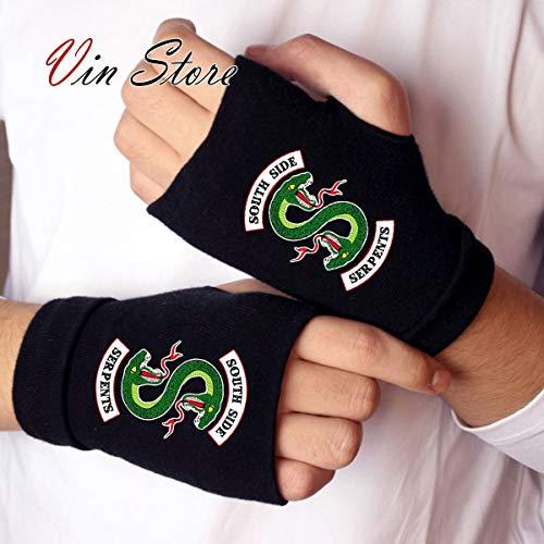 Vin Store Riverdale Glove - Riverdale Archie Andrews Betty Cooper Serpents Fingerless Glove Half Mitten Gloves Cosplay Costume (Serpents)]()