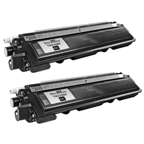Speedy Inks - 2 pack TN-210BK black Premium Compatible with Brother Toner Cartridge for use in HL-3040CN, HL3070CW, MFC-9010CN, MFC-9120CN, and MFC-9320CW.