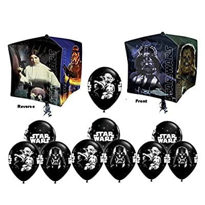 Star Wars Cubez Party Balloons Bouquet- 11 pieces: Toys & Games