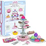 """Sophia's 18"""" Doll Dessert Set with Desserts, Serving Plates, Utensils and Trays (39-Piece)"""