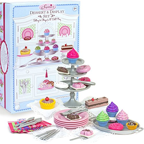 "Sophia's 18"" Doll Dessert Set with Desserts, Serving Plates, Utensils and Trays (39-Piece) from Sophia's"