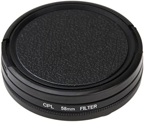 CYcaibang Lens Accessories 58mm Round Circle CPL Lens Filter with Cap for GoPro HERO5 Session //HERO4 Session//Hero Session