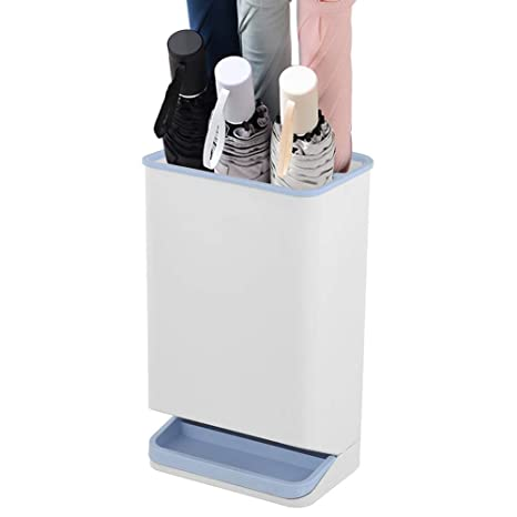 YUOTA White Umbrella Stand Storage Solutions Small Umbrella Holder for Long/Short Umbrella Rack,