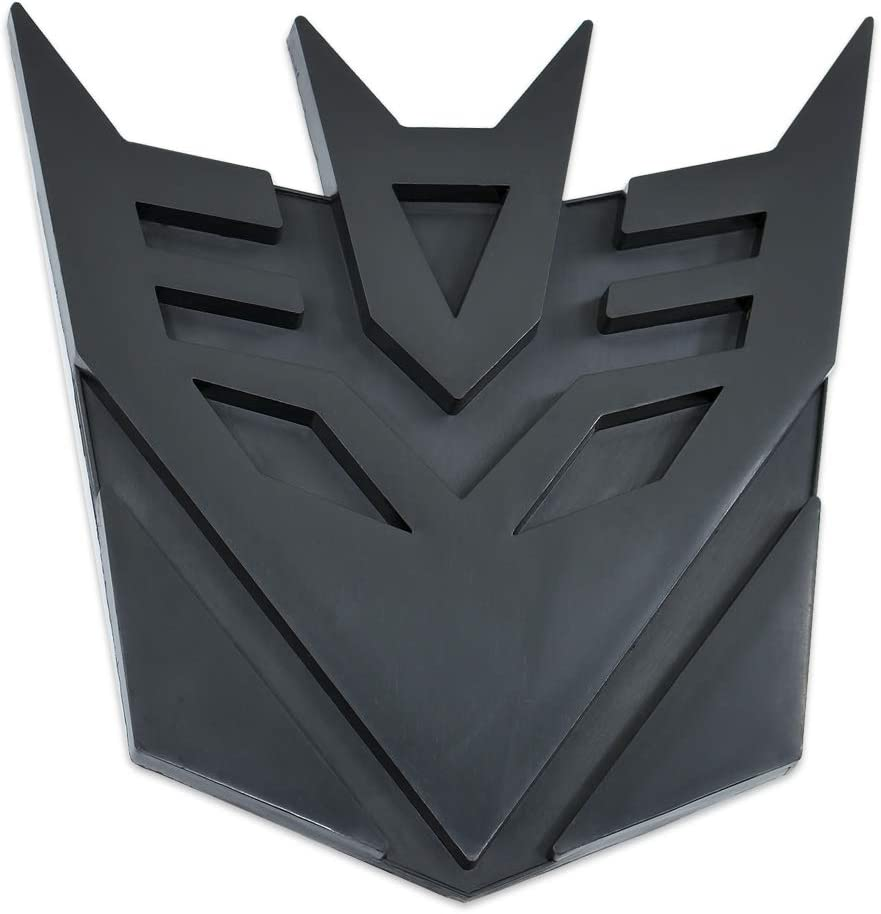Transformer Decepticon Auto Emblem - [Black][5'' Tall]